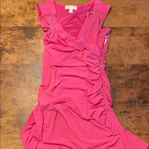 🍋MICHAEL KORS wrap zipper pink dress Sz 8